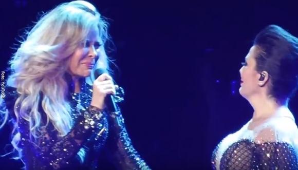 La Guzmán hizo llorar a Gloria Trevi en pleno show