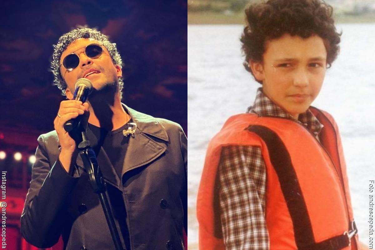 Fotos de Andrés Cepeda, antes y después