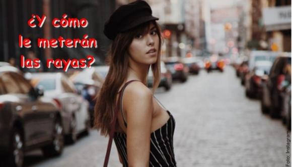 Paulina Vega impone las rayas, ¡y nos deslumbra!