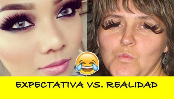 Expectativa vs. realidad en maquillaje, uñas y pelo
