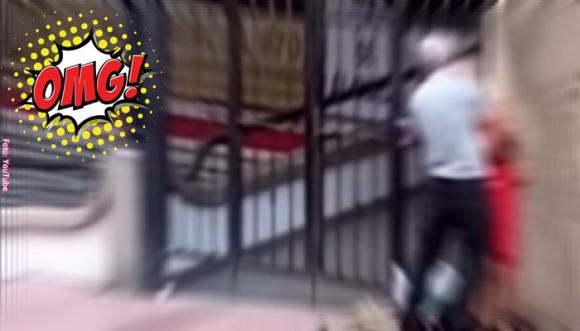 """Abuelo no aguantó su """"calentura"""" en la calle (VIDEO)"""