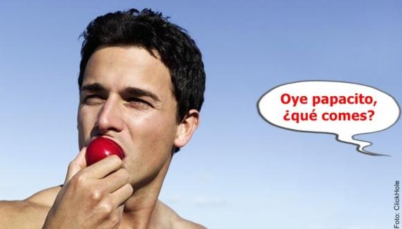 Hombres que comen frutas y verduras son más atractivos