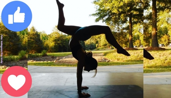 Ella desafió a Instagram haciendo yoga, ¡desnuda!