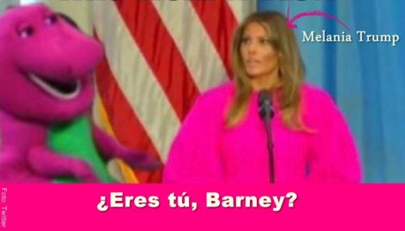 A Melania Trump le sacan memes por su vestido