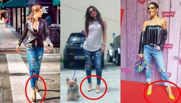 ¿Cómo combinar jeans con tacones? Así...