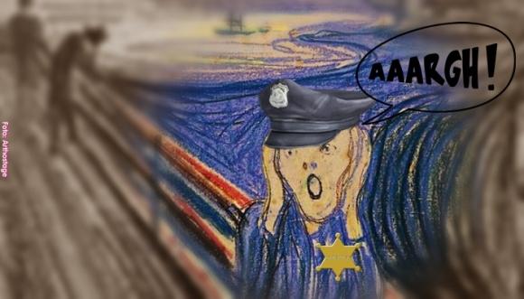Quién dijo que los policías no se asustan