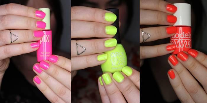Foto de uñas con esmalte neón