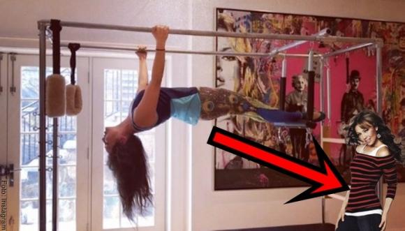Thalía tiene cintura de 54 cm con este ejercicio
