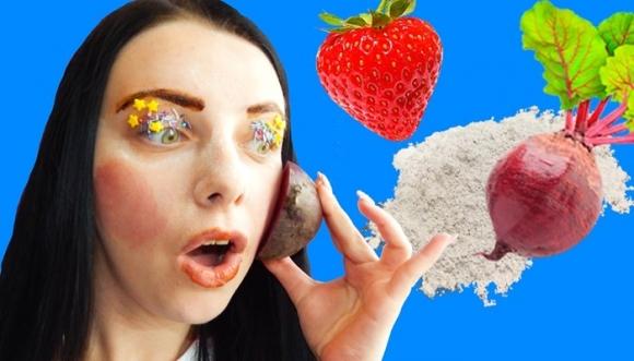 ¿Te maquillarías con miel, harina y remolacha?