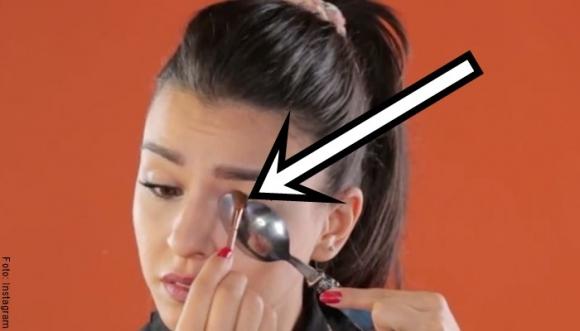 Truco de la cuchara para maquillaje perfecto