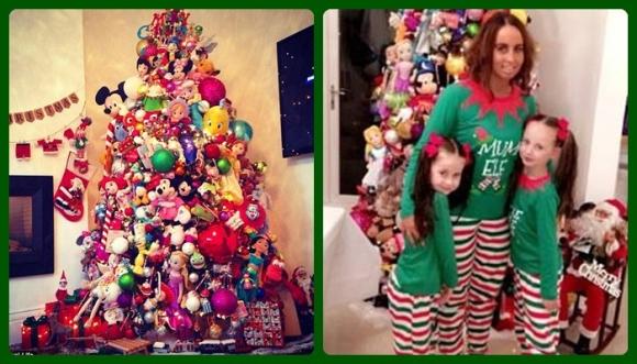 Madre soltera la saca del estadio con este árbol de Navidad