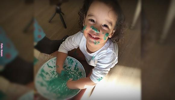 Actividades para niños #3: Texturas con Maizena
