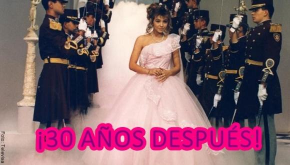 Thalía se viste de quinceañera 30 años después