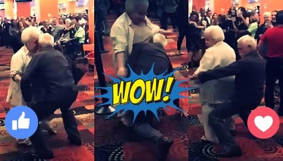 """El baile de estos abuelos """"la sacó del estadio"""""""