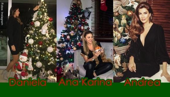 Famosas lucen sus árboles de Navidad