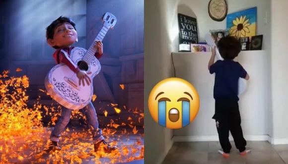 Niño canta canción de 'Coco' a su hermanita fallecida