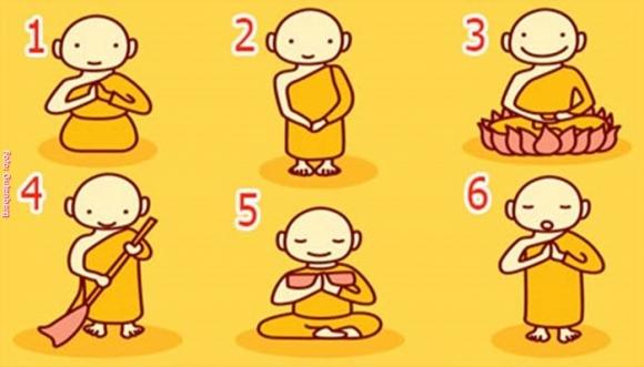 Uno de estos monjes tiene un mensaje para ti, ¿cuál eliges?