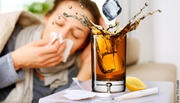 #TRUCO con whisky para la gripa