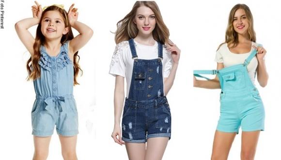 Overoles cortos que usabas de niña, vuelven y están de moda