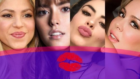 ¿Reconocerías a cada famosa solo por sus labios?