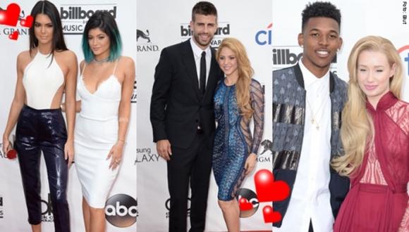 Las parejas más románticas de los Billboard