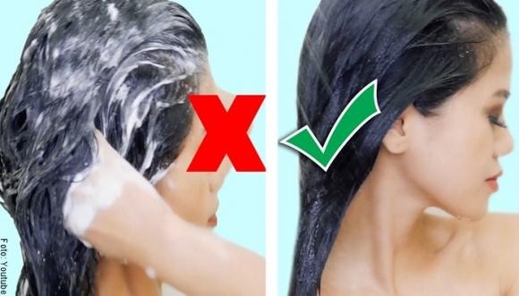 ¿Cómo lavar mi pelo correctamente? ¡Así NO!