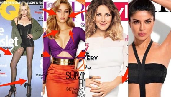 10 casos descarados de Photoshop en revistas