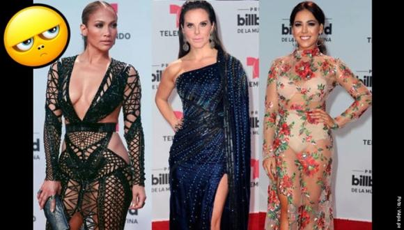 Las peores vestidas de los premios Billboard