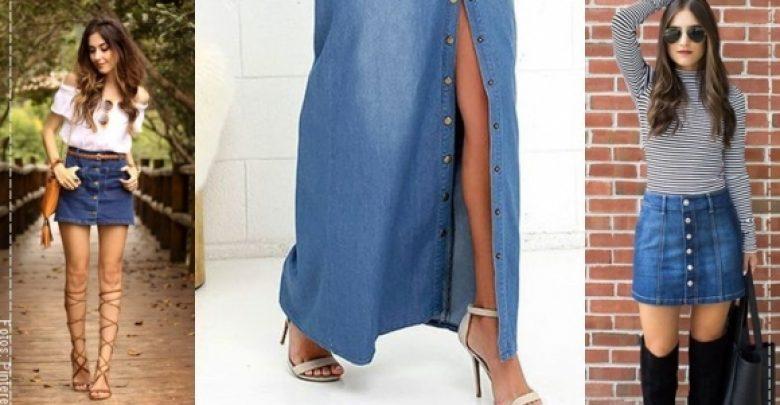 430e284d2 7 ideas para volver a usar una falda de jean - Vibra