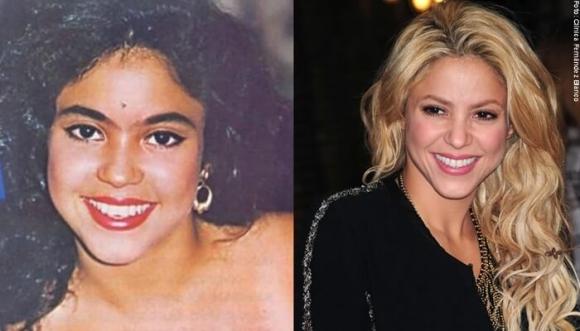 La transformación de la belleza de Shakira