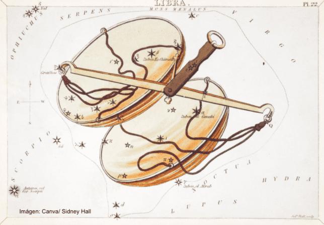 Ilustración de la constelación de Libra