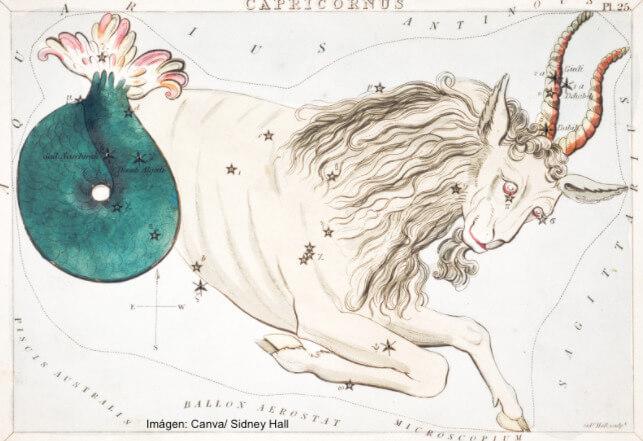 Ilustración de la constelación de Capricornio