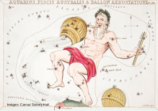 Ilustración de la constelación de Acuario