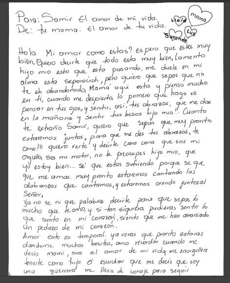 carta de una madre separada de su hijo en ee uu te hara llorar1