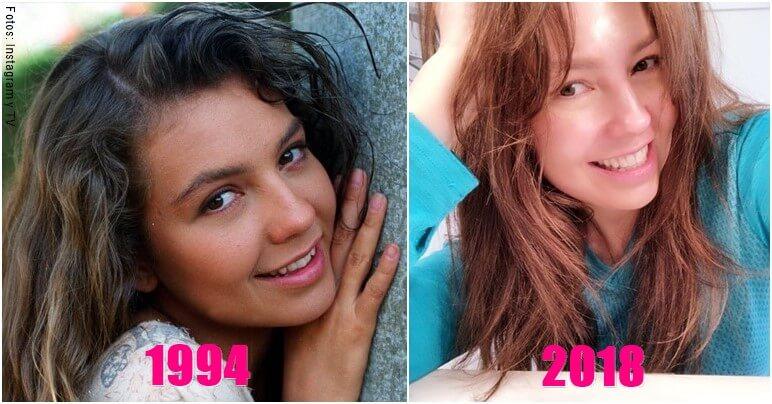 Foto de Thalia antes y después