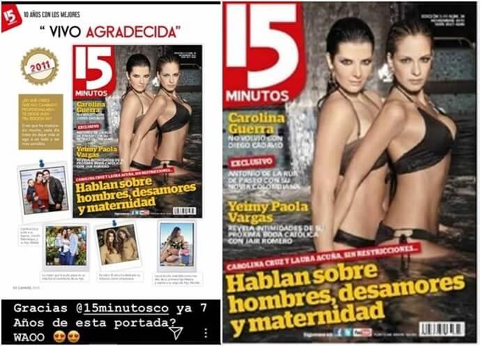 Carolina Cruz y Laura Acuña en bikini