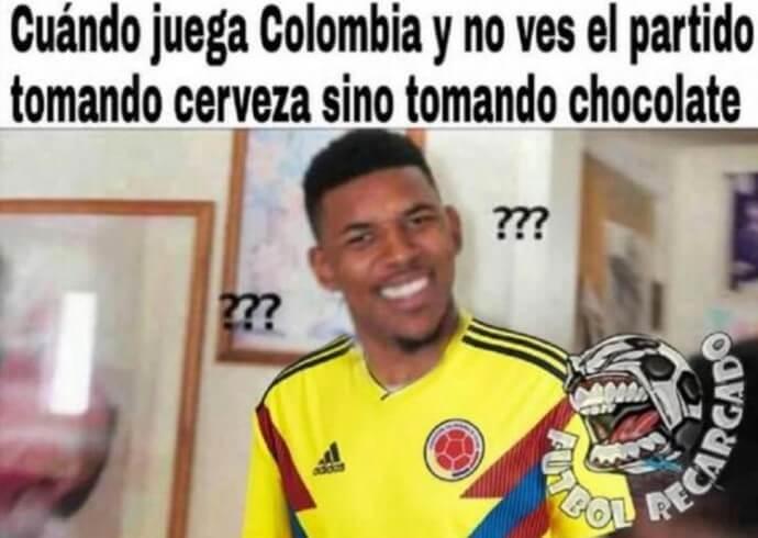 meme de partido de colombia vs senegal