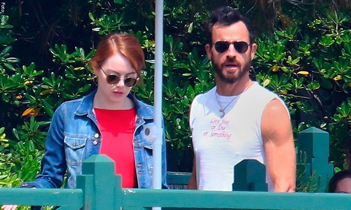 justin theroux y emma stone a