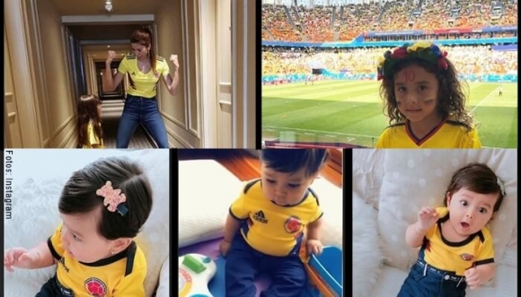 ¡Hijos de famosas se pusieron la camiseta de la Selección!
