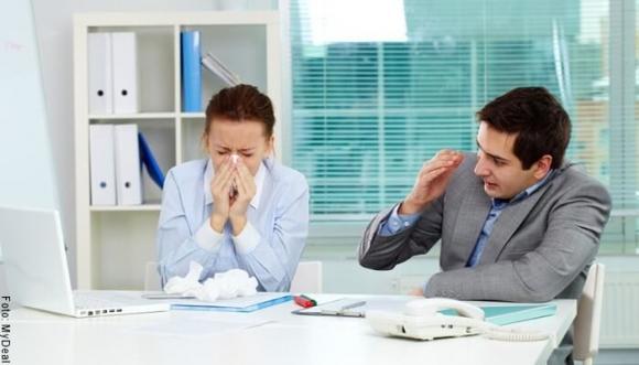 ¿Cómo evitar la gripe en tu lugar de trabajo?