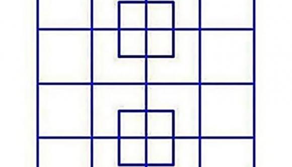 Cuantos cuadrados azules eres capaz de ver
