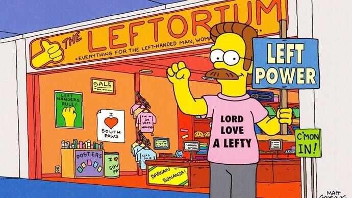 Flanders en la tienda de zurdos