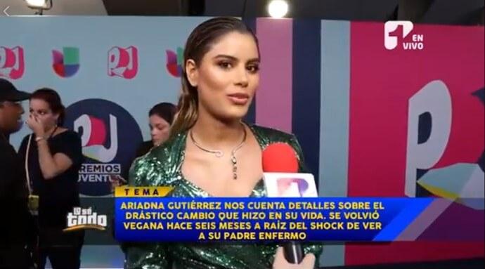 Ariadna Gutiérrez en entrevista televisiva