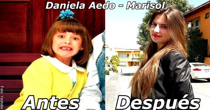 Antes y después de Marisol de Vivan los niños