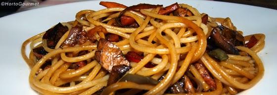 Espagueti con verduras