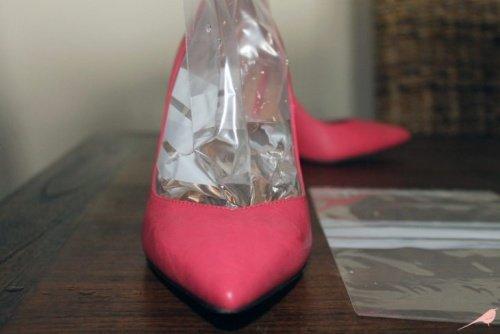 Zapatos con bolsa de hielo