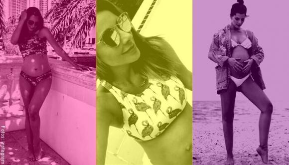 Famosas colombianas embarazadas ¡y en bikini! Divinas