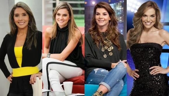 """Carolina Cruz y otra bellas presentadoras de """"Día a día"""""""