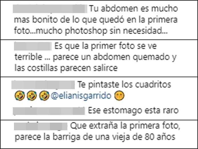 Críticas de internautas a Elianis Garrido por abusar del Photoshop
