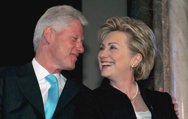 Foto de Bill Clintony su esposa, Hillary